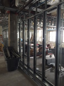 7th floor wall framing II
