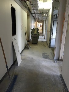 8th floor facing NORTH in SOUTH hallway