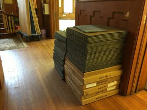 classroom materials lining up