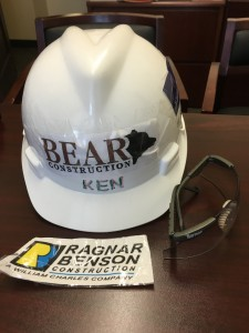 BearCC Hardhat with glasses