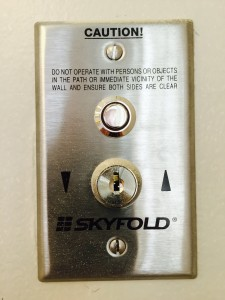 Skyfold control panel