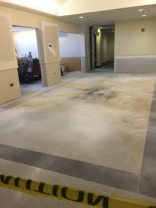 Terrazzo flooring semi finished
